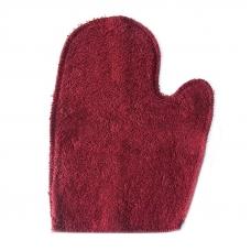 Махровая рукавичка для бани и сауны цвет бордовый