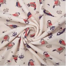 Ткань на отрез интерлок Снегири 3726-20