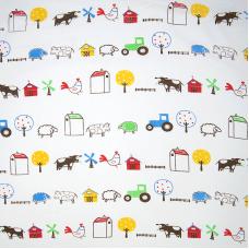 Ткань на отрез бязь плательная 150 см 942 Веселая ферма