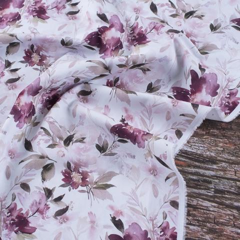 Ткань на отрез перкаль 150 см 150 см 90015 Акварельные цветы