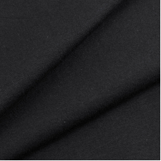 Ткань на отрез футер с лайкрой 1406-1 цвет черный