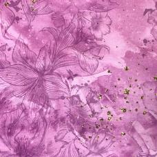 Маломеры кулирка 22321 Розовые цветы 3,3 м