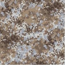 Ткань на отрез саржа цвет камуфляж 671-1п Излом