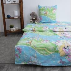 Детское постельное белье из поплина 1.5 сп 1562 Принцесса