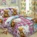 Детское постельное белье 1575 Мишка с зайкой 1.5 сп поплин