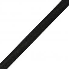 Резинка вязаная 15мм черная МС161 1 метр