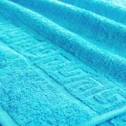 Полотенце махровое Туркменистан 70/140 см цвет бирюзовый BLUE ATOLL