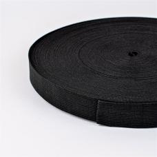 Резинка вязаная 25мм 40м черная