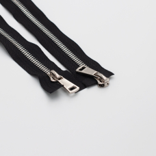 Молния металл №8ТТ  никель два замка 75см D580 черный