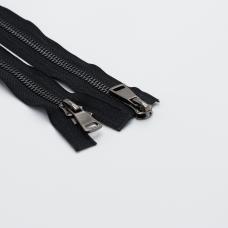 Молния металл №8ТТ черный никель 2 замка 75см D580 черный