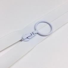 Молния спираль №7 н/р 18см водостойкая D501 белый кольцо