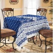 Столовый набор 4779/1 Птички синие скатерть полулен 150/260 + 6 салфеток