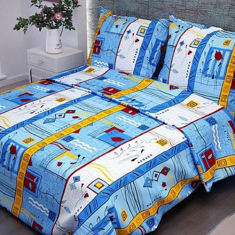 Маломеры бязь о/м 120 гр/м2 150 см 133/3 Стамбул цвет голубой 2.48 м