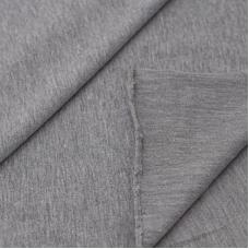 Ткань на отрез футер петля с лайкрой 04-12 цвет серый меланж