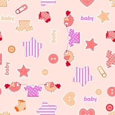 Ткань на отрез фланель 75 см 7065/2 Малышок цвет персик
