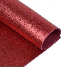 Фоамиран глиттерный 2 мм MG.GLIT.H025 цвет темно-вишневый, 20х30 см