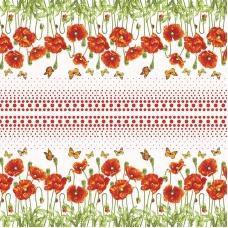 Вафельное полотно набивное 150 см 438-4 Маков цвет