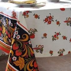 Столовый набор 4046/1 Хохлома скатерть полулен 150/220 + 6 салфеток