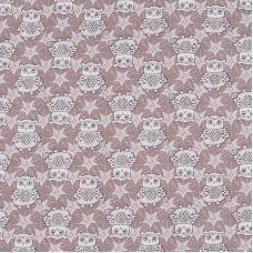 Ткань на отрез бязь ГОСТ Шуя детская 150 см 9946/4 Совушки цвет кофе
