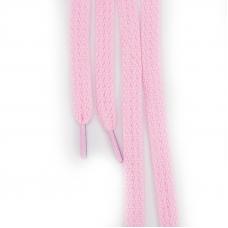 Шнур плоский светло-розовый 120см уп 2 шт