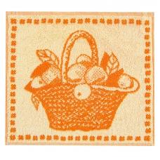 Салфетка махровая 1442 Корзина 30/30 см  цвет желтый