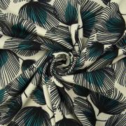 Ткань на отрез кулирка R3323-V1 Перо павлина