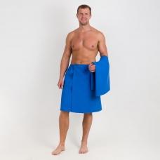 Набор для сауны вафельный Премиум мужской 2 предмета (килт шир.резинкой+полотенце) цвет 556-3
