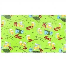 Полотенце вафельное банное 150/75 см 277/1 Раки цвет зеленый