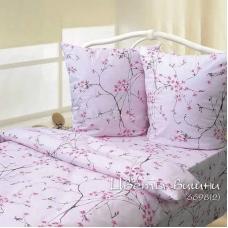Ткань на отрез бязь ГОСТ Шуя 150 см 6698/2 Вишневый сад цвет розовый