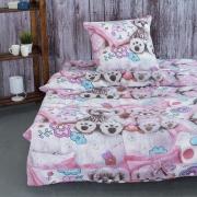 Детское постельное белье из поплина 1.5 сп 1689 Мягкие игрушки
