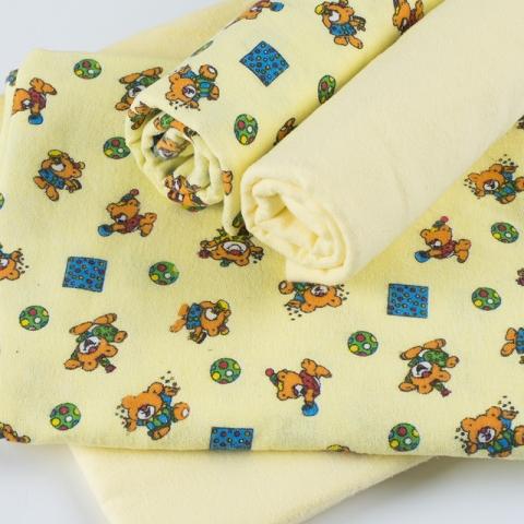 Набор детских пеленок фланель 4 шт 90/120 см 8