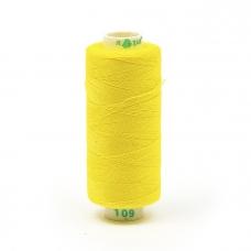 Нитки бытовые Dor Tak 40/2 366м 100% п/э, цв.109 желтый