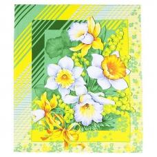 Полотенце вафельное 50/60 см 20021/1 Утренние цветы
