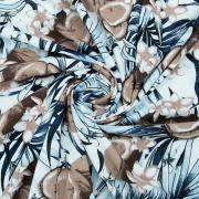 Ткань на отрез кулирка YT3106 Кокосовый рай