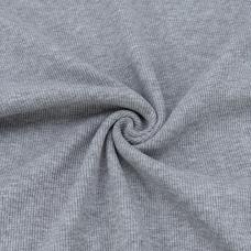 Ткань на отрез кашкорсе 3-х нитка с лайкрой цвет серый меланж 2