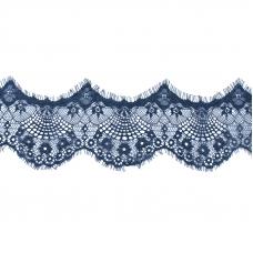 Кружево реснички 10см J041 синий упаковка 3м