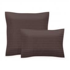 Комплект наволочек страйп-сатин 896 упаковка 70/70 2 шт шоколад