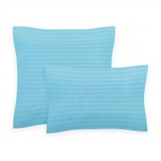 Комплект наволочек страйп-сатин 906 упаковка 70/70 2 шт голубой
