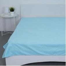 Простыня страйп-сатин 906 цвет голубой 2-х сп