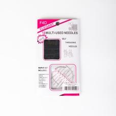 Иглы Needles F4D 18шт (с позолоч.ушком)