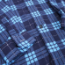 Рубашка мужская фланель клетка 48-50 цвет синий модель 3