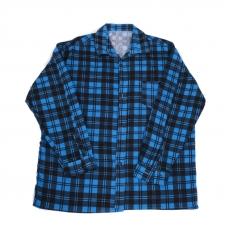 Рубашка мужская фланель клетка 56-58 цвет синий модель 4
