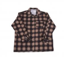 Рубашка мужская фланель клетка 60-62 цвет коричневый модель 1