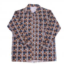 Рубашка мужская фланель клетка 48-50 цвет коричневый модель 2