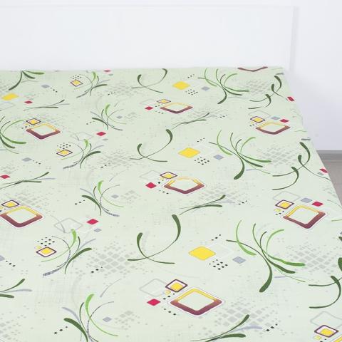 Простынь бязь 319/1 Вальс цвет зеленый 1.5 сп