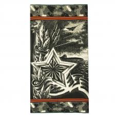 Полотенце махровое 4380 Армейская звезда 70/140 см