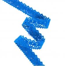 Кружево лен L130945 Синий 1,5см 1метр