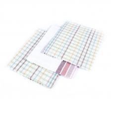 Набор полотенец полулен 3 шт 50/70 см Клетка+Полоска расцветки в ассортименте