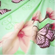 Маломеры бязь 120 гр/м2 150 см Бабочки на зеленом 11 м