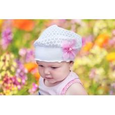 Детская летняя вязаная шапочка-косынка вид 19